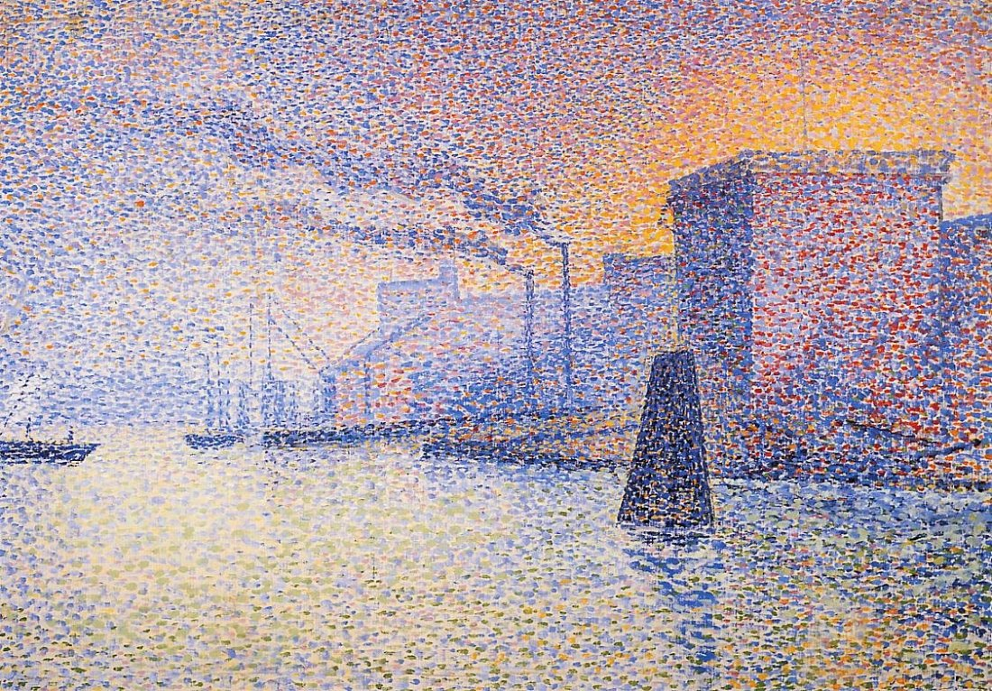 """""""Factories on the Thames."""" 1892-1894."""