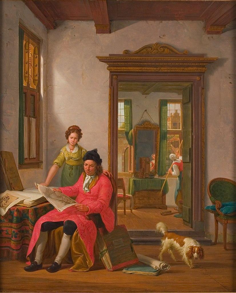 """""""De kunstbeschouwing."""" 1824."""