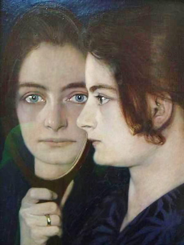 Mirror portrait. 1914.