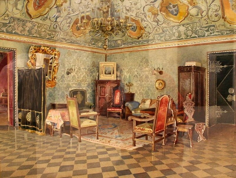 Drawing room, Yusupov mansion, Moscow. 1893.