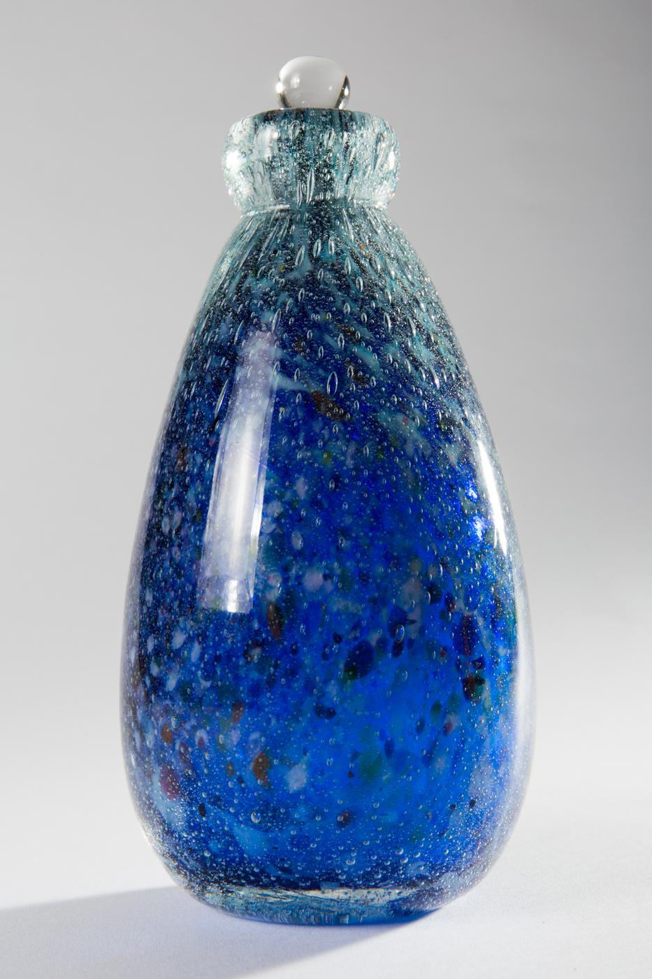 Blue vase. Undated.