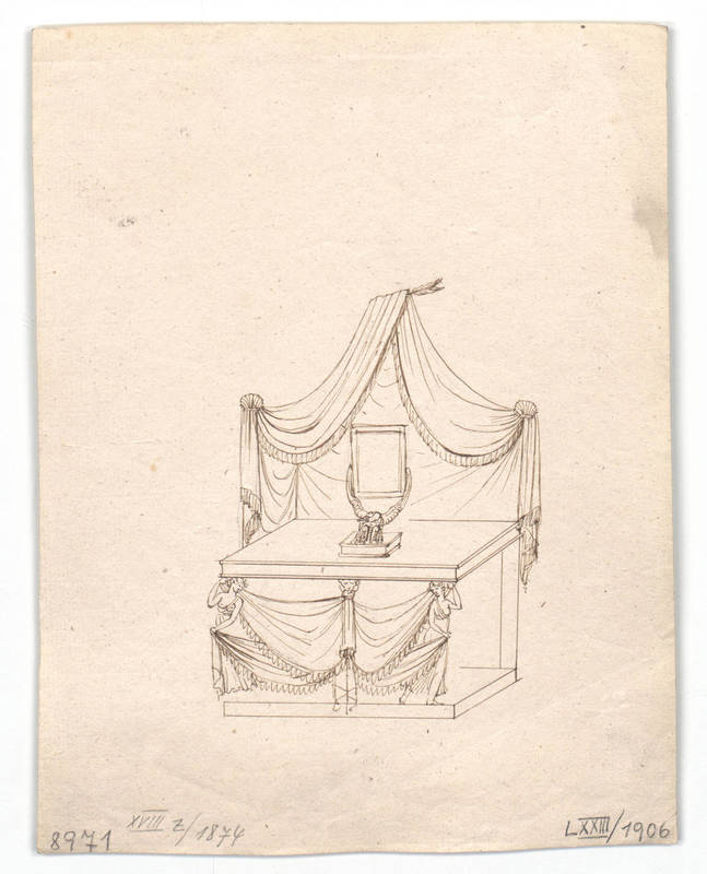 """""""Design for a toilet table."""" 1814-1829."""