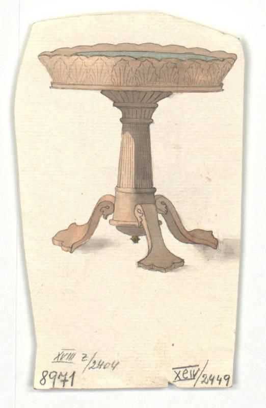 """Design for a tea table."" 1814-1829."