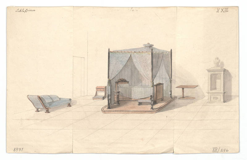 """""""Design for an interior."""" 1814-1829."""
