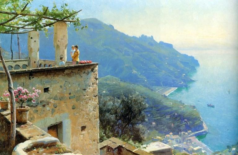 """""""The Ravello Coastline."""" 1926."""