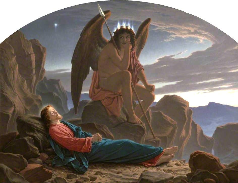 """Satan Watching the Sleep of Christ."" 1874."