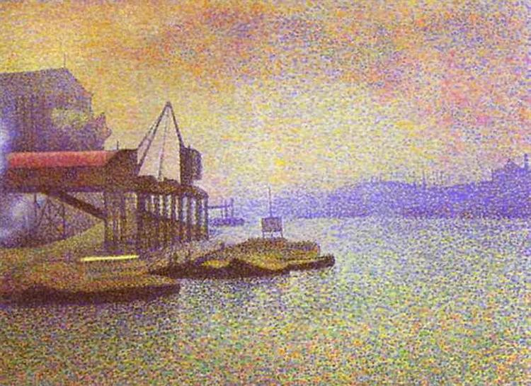 """""""View of the Thames."""" 1892."""