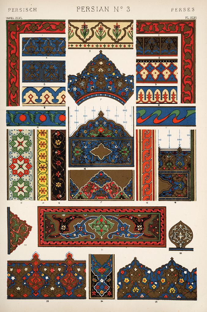 Persian number 3. Plate XLVI.