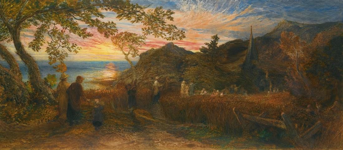 """Old England's Sunday Evening."" ca. 1874."