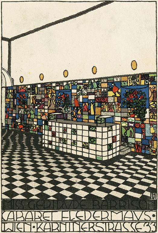 """""""Bar room, Cabaret Fledermaus."""" 1907."""
