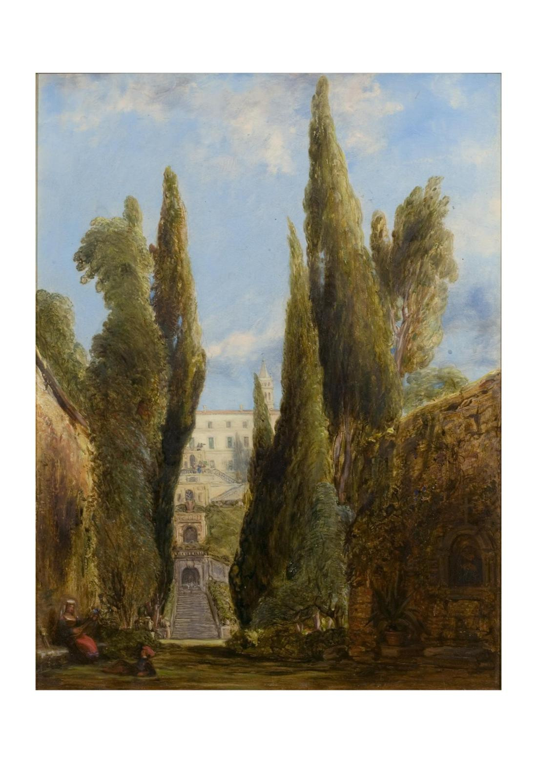 """""""The Villa d'Este, Tivoli."""" Exhibited in 1842."""