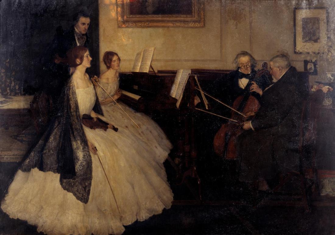 """The Rehearsal.""1907."