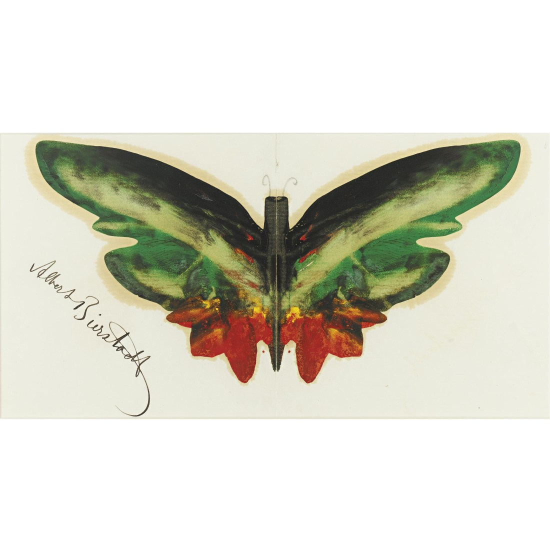Green butterfly. No date.