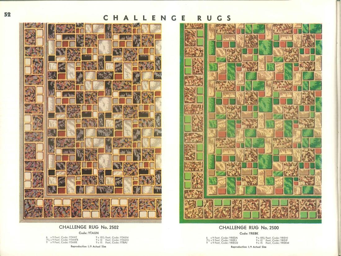 Challenge rugs. Page 52.