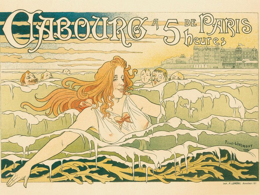 """""""Casino de Cabourg,"""" part of the 1896 series """"Les Maîtres de l'affiche."""""""