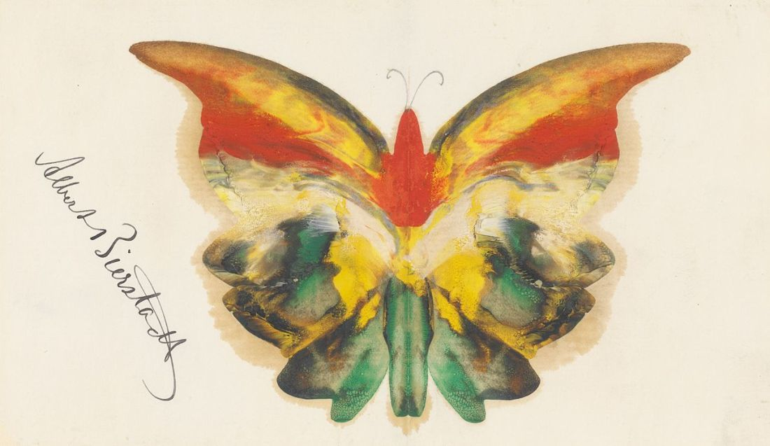 Yellow butterfly. ca. 1890.