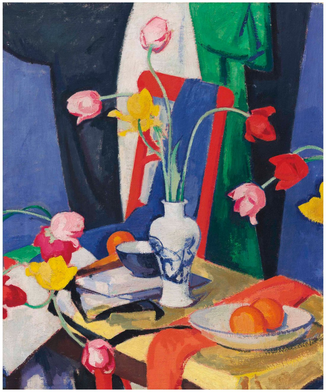 """Still life with Tulips."" ca. 1919."