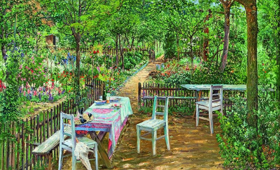 """""""Summer in the Garden, Znaim."""" 1893."""