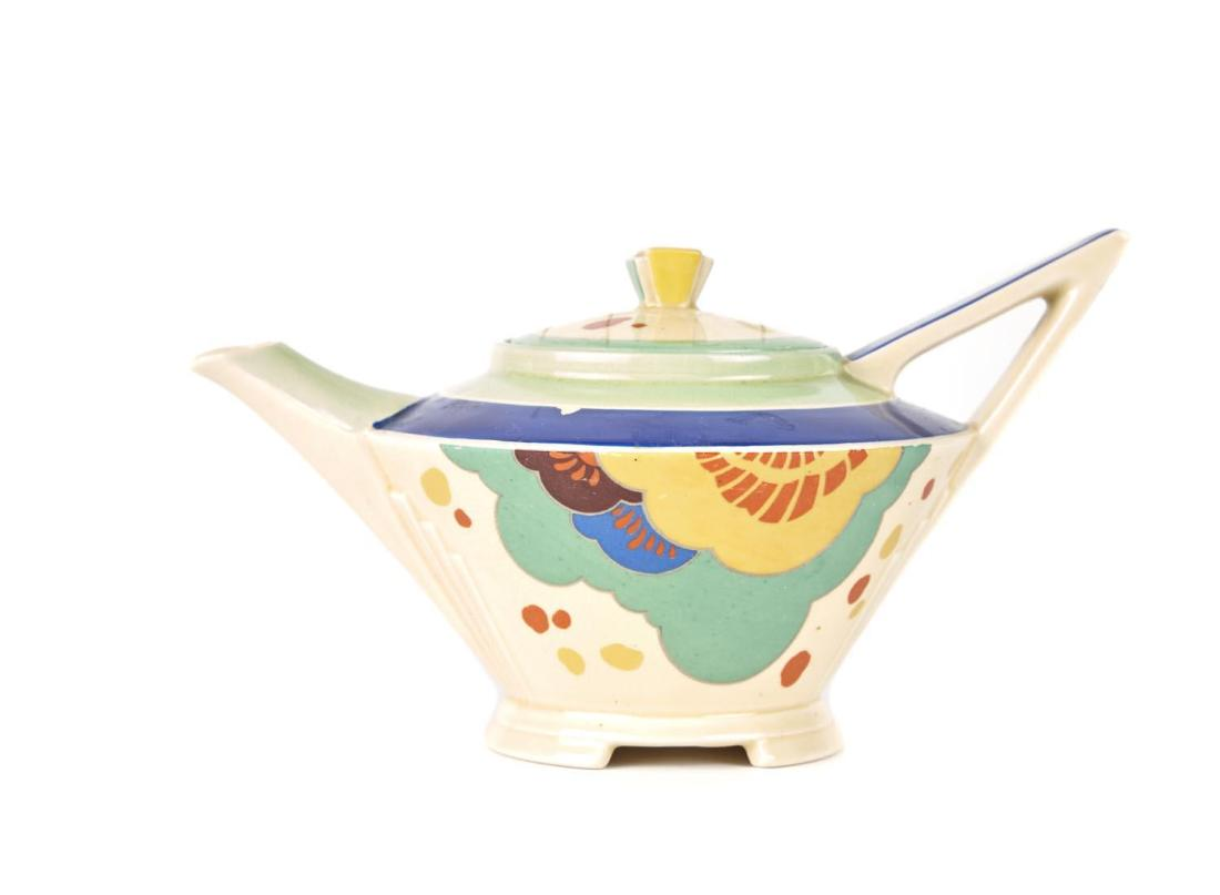 """Hand painted teapot in the """"Gaylee"""" D5305 pattern. Art Deco. ca. 1930's."""