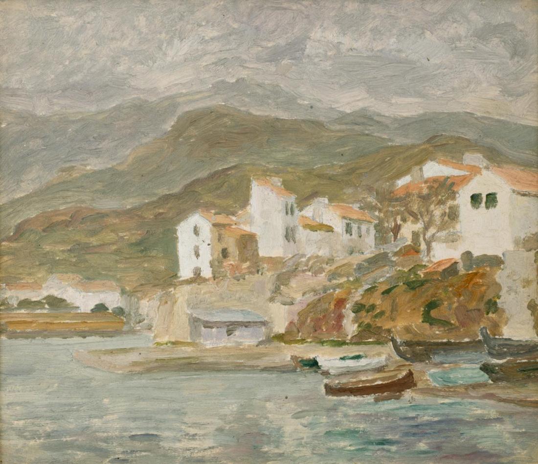 Sketch for the fishing village, Le Lavandou. ca. 1923.