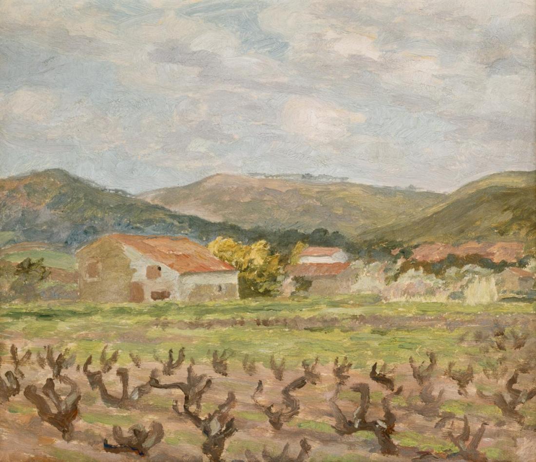 """Vineyard, Sanary."" ca. 1925."