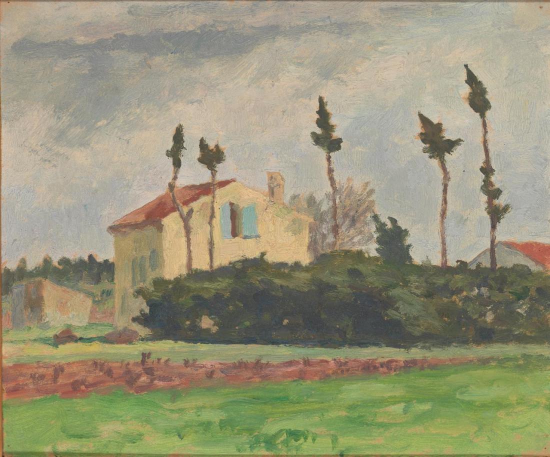 """""""Landscape sketch, South of France."""" ca 1923."""