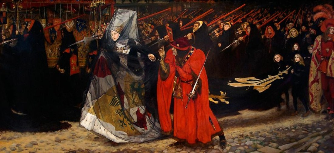 """""""Richard, Duke of Gloucester, and the Lady Anne."""" 1896."""