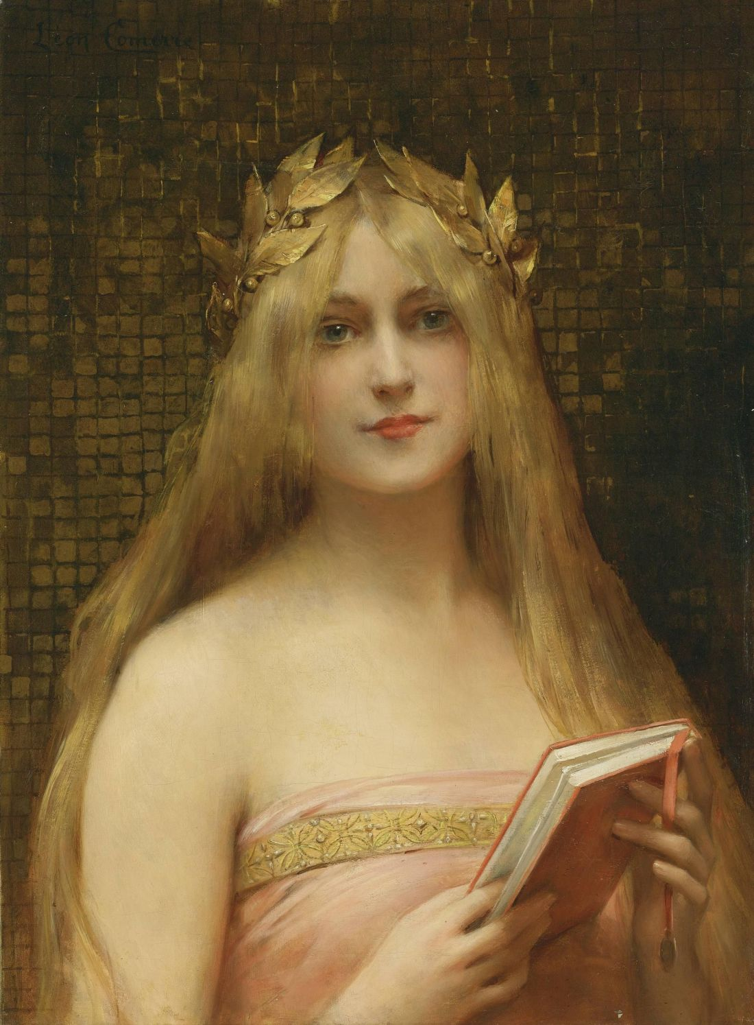 """""""A Classical Beauty/Girl with a Golden Wreath."""" No date."""
