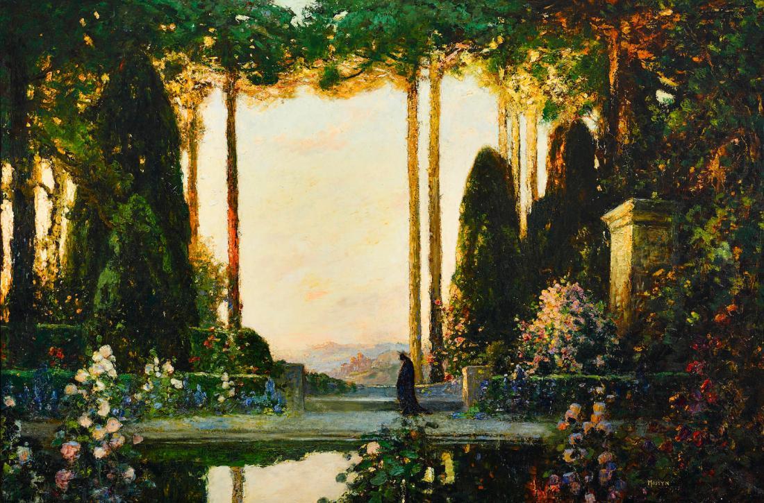 """""""An enchanted garden."""" 1923."""