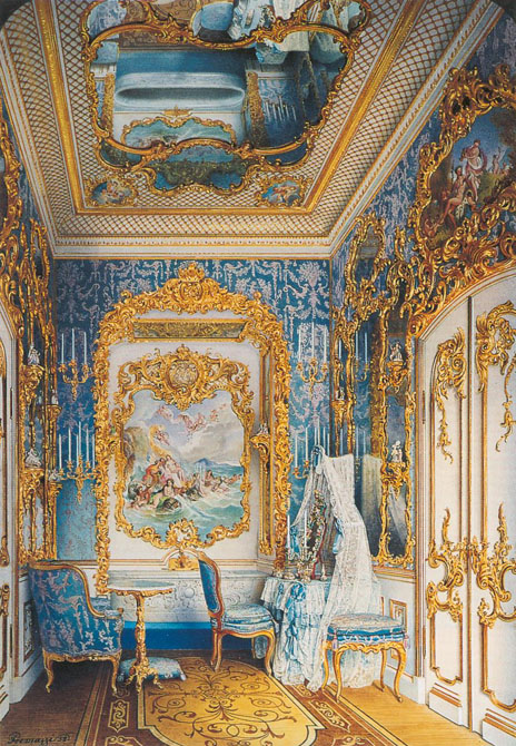 Bathroom in the Dacha. Peterhof. 1852. Watercolor.