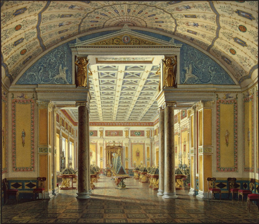 """The Room of Cameos"" from the series ""Interiors of the New Hermitage."""