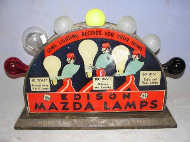 """""""Some lighting recipes for your home. """"Edison Mazda Lamp Display"""