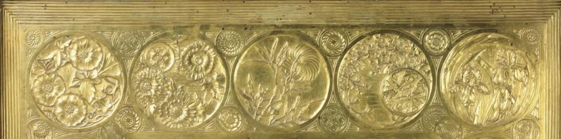 Fireplace insert (detail).