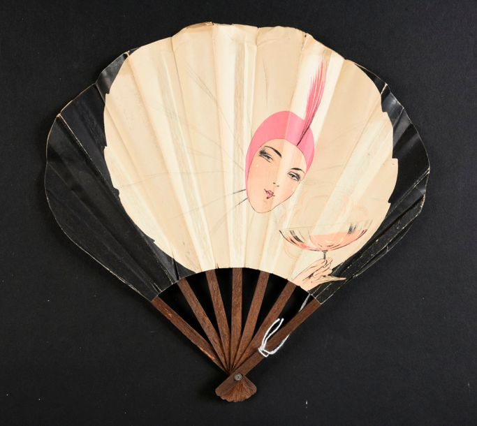 Fan from an advertising campaign brewery of the Avenue de l'Opera in Paris.