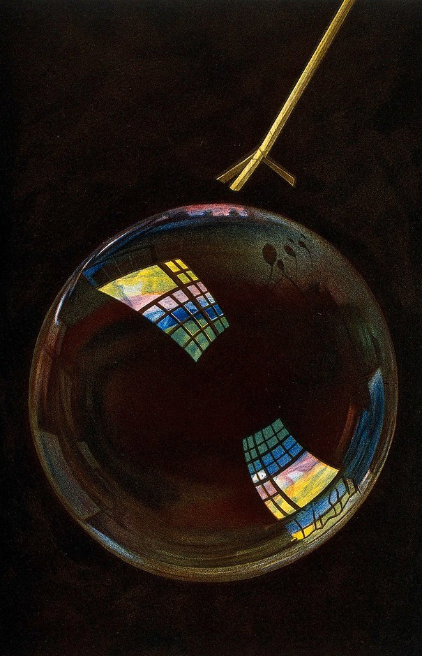 """""""Soap bubble,"""" Plate VI in """"Le Monde Physique."""" 1882."""