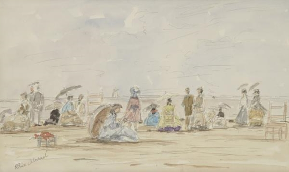 """A Beach."" ca. 1924. Watercolor and pencil."