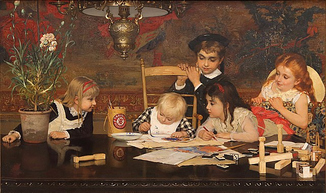 """""""The Master Painter."""" 1877."""