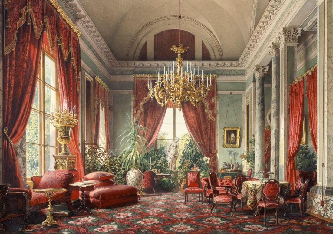 """""""Raspberry Salon, Tsarkoe Selo."""" 1863."""