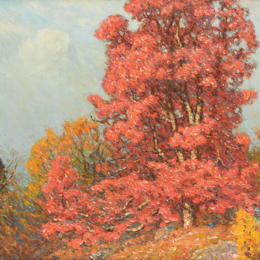 """""""Autumn Landscape."""" No date."""