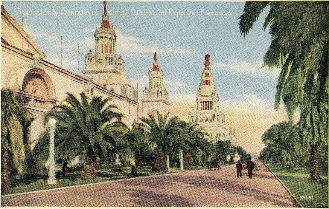 """View Along Avenue of Palms."" X-131."