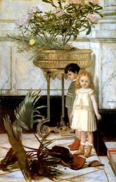 """""""The Broken Flower Pot."""" 1876."""