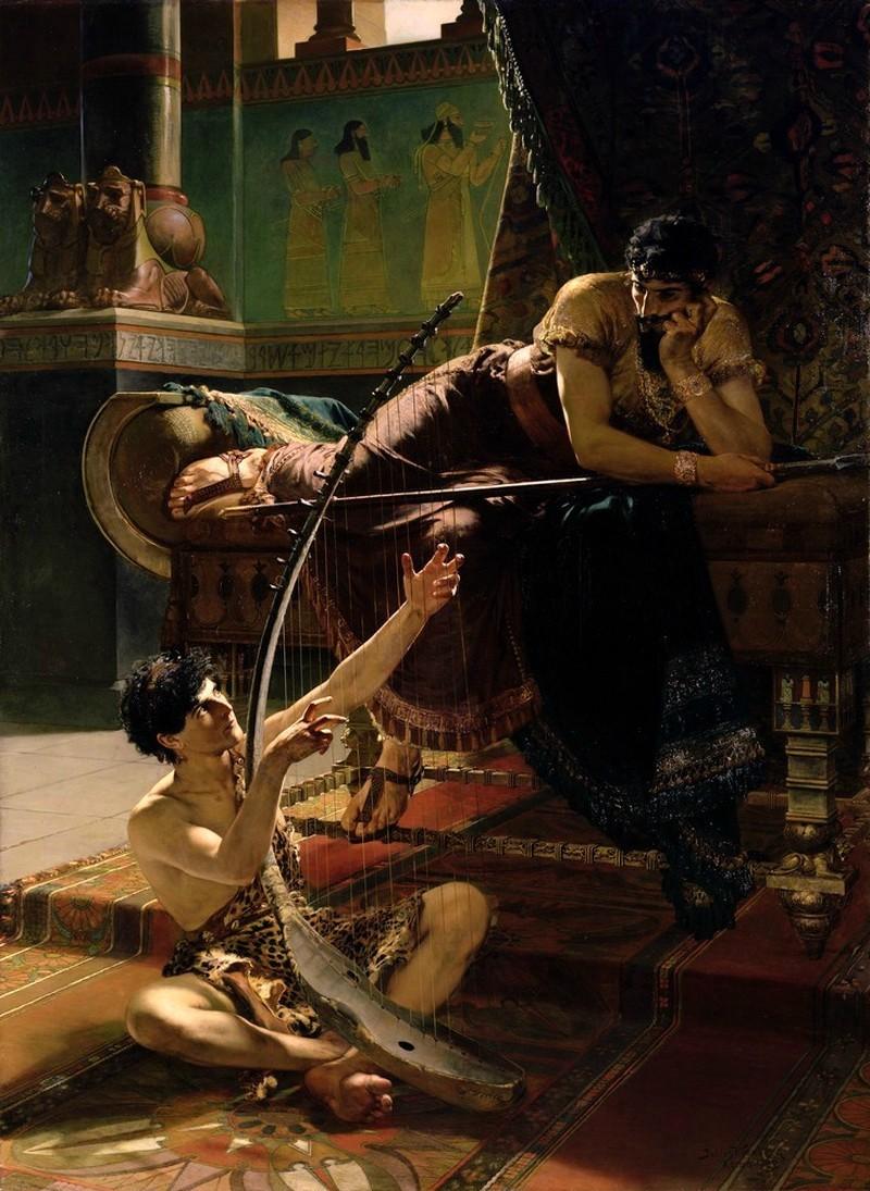"""David and Saul."" 1885."