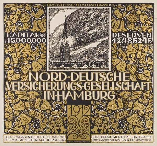 Poster for Nord-Deutsche Versicherungs-Gesellschaft. 1912.