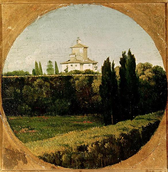 """""""View of the Villa Medici Rome."""" Undated."""
