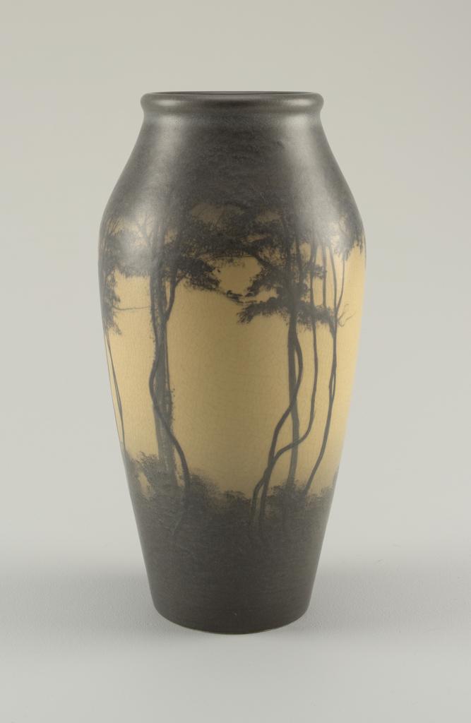 Scenic vellum vase. 1909.