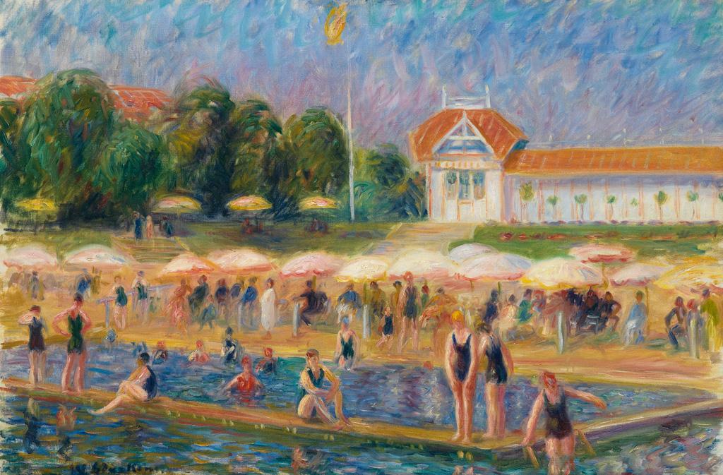 """""""The Beach, Isle Adam."""" ca. 1925-26."""