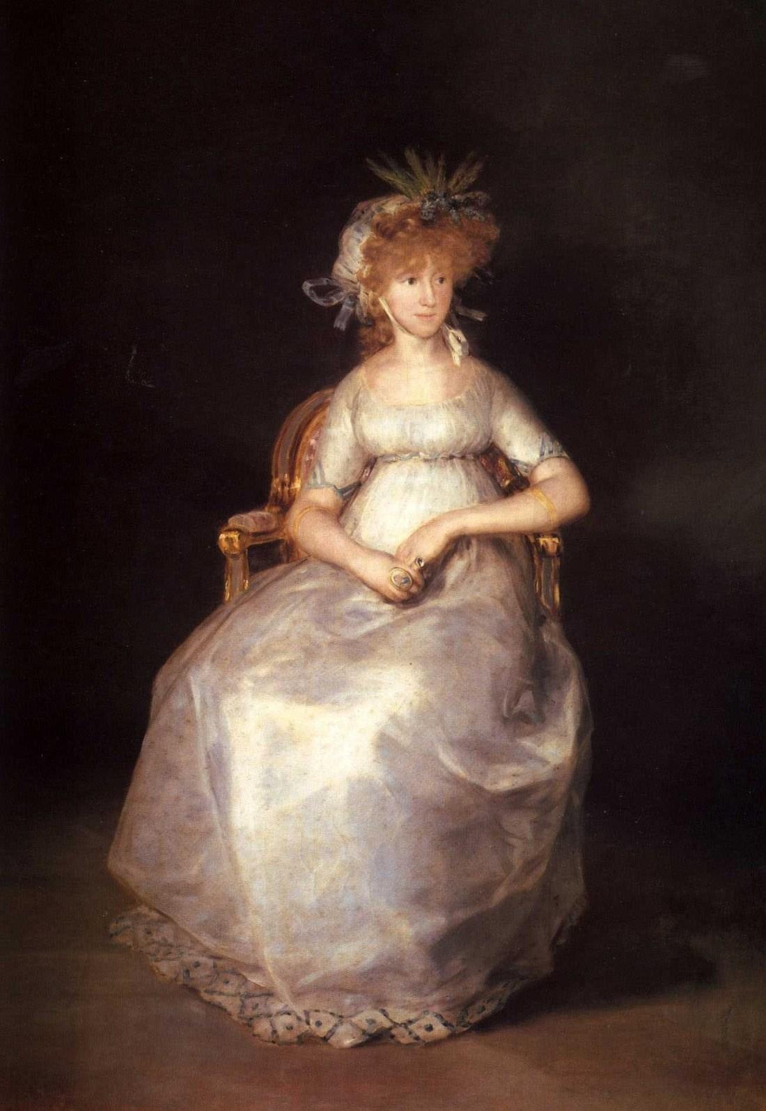 María Teresa Borbón y Vallabriga, Princesa de la Paz. Condesa de Chinchón. Lived from 1780 to 1828.