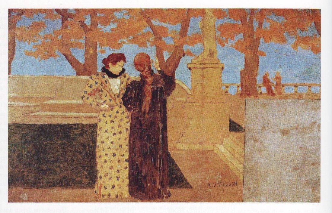Conversation-on-a-terrace-Ker-Xavier-Roussel-oil-painting-1