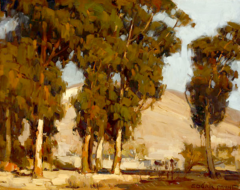 """Eucalyptus Landscape."" Painted before 1947."