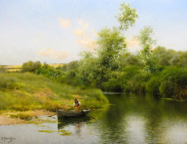 """""""A Summer Day on the River."""" No date."""